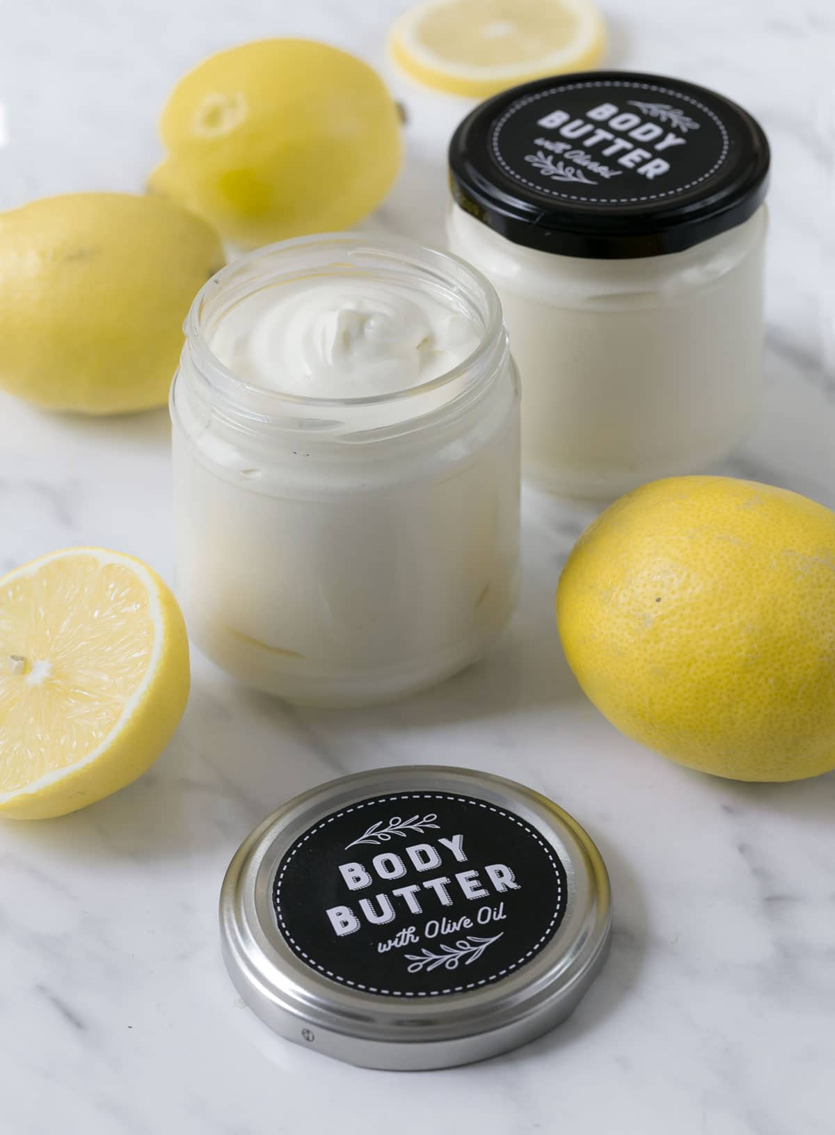 Frische Body Butter selber machen - mit Oliven -und Zitronenöl