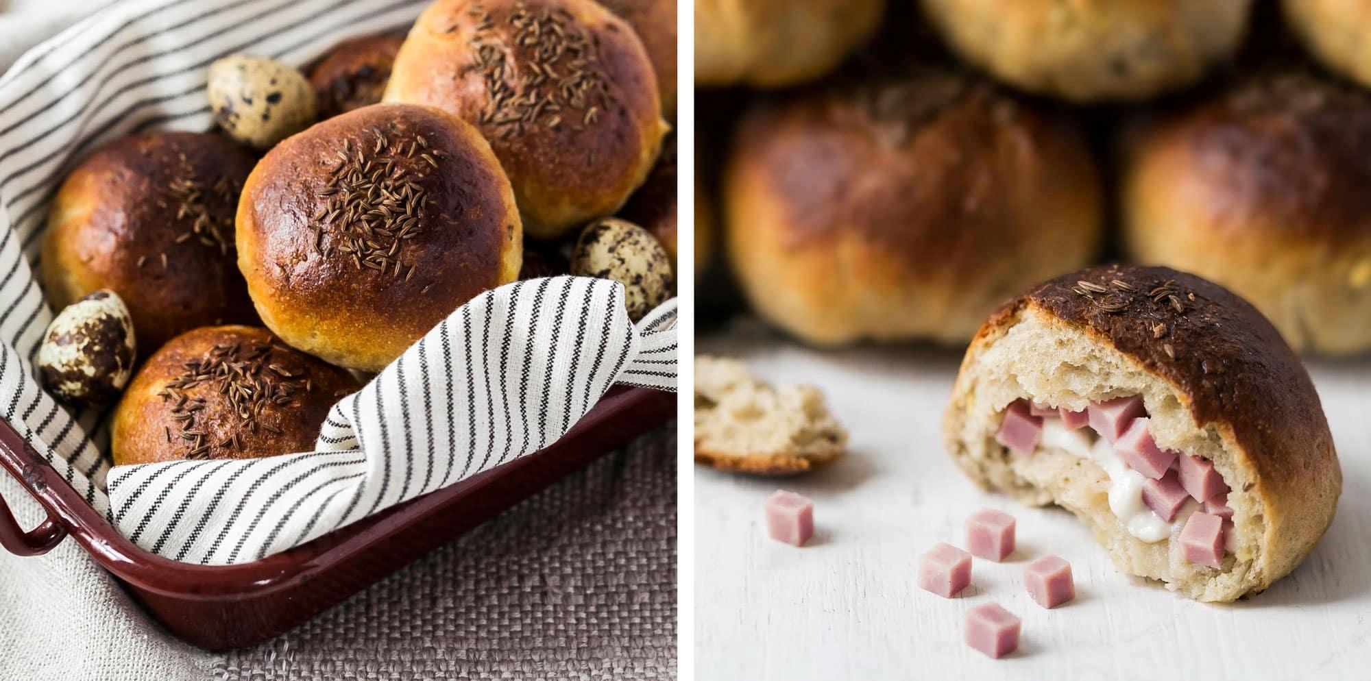 So flaumig: Oster-Brötchen mit Füllung