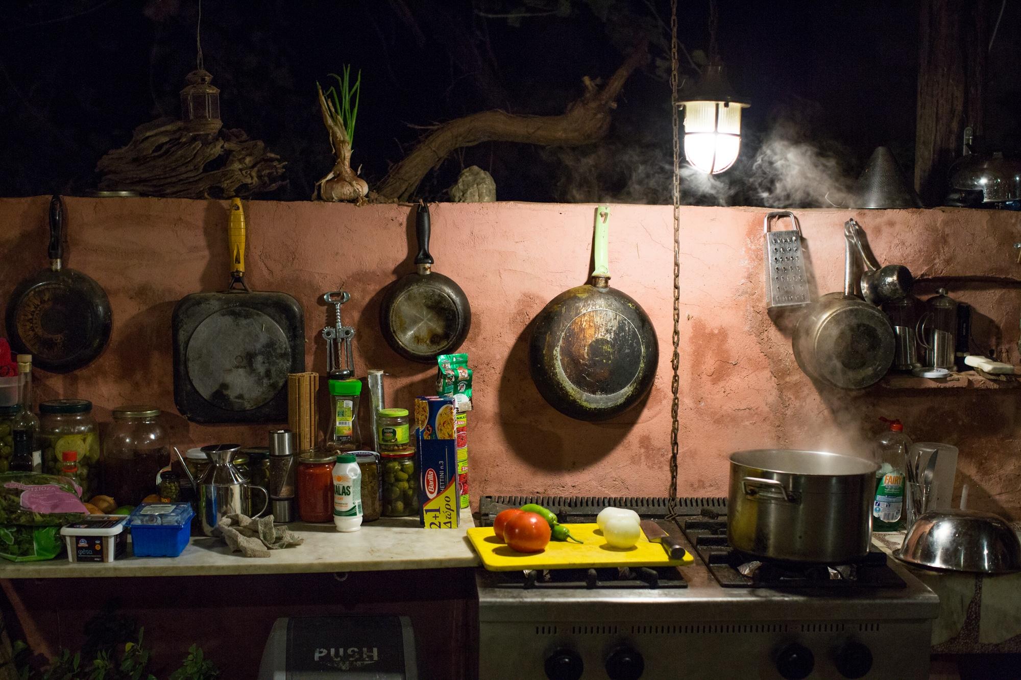 Küche unseres Olivenbauer