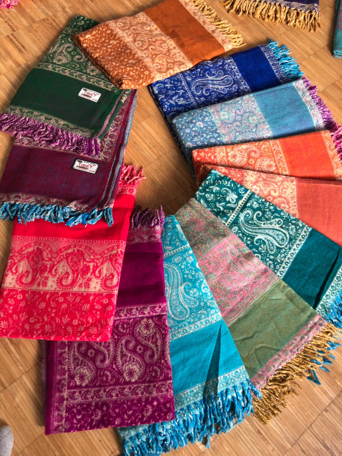Bunte Decken aus Jakwolle