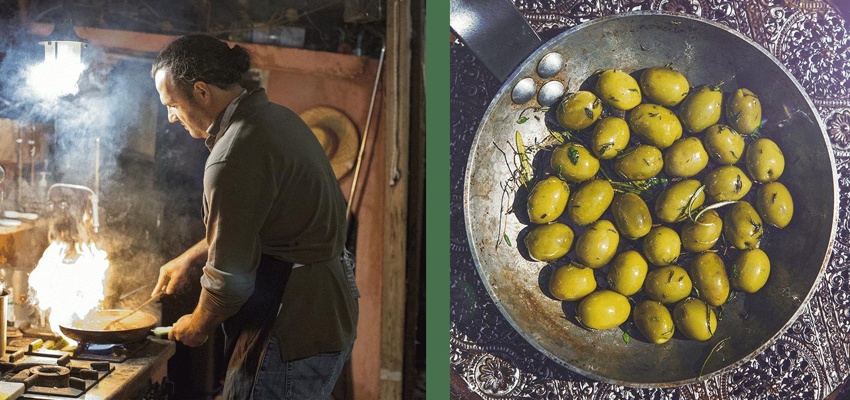 olivenbauer costas beim kochen