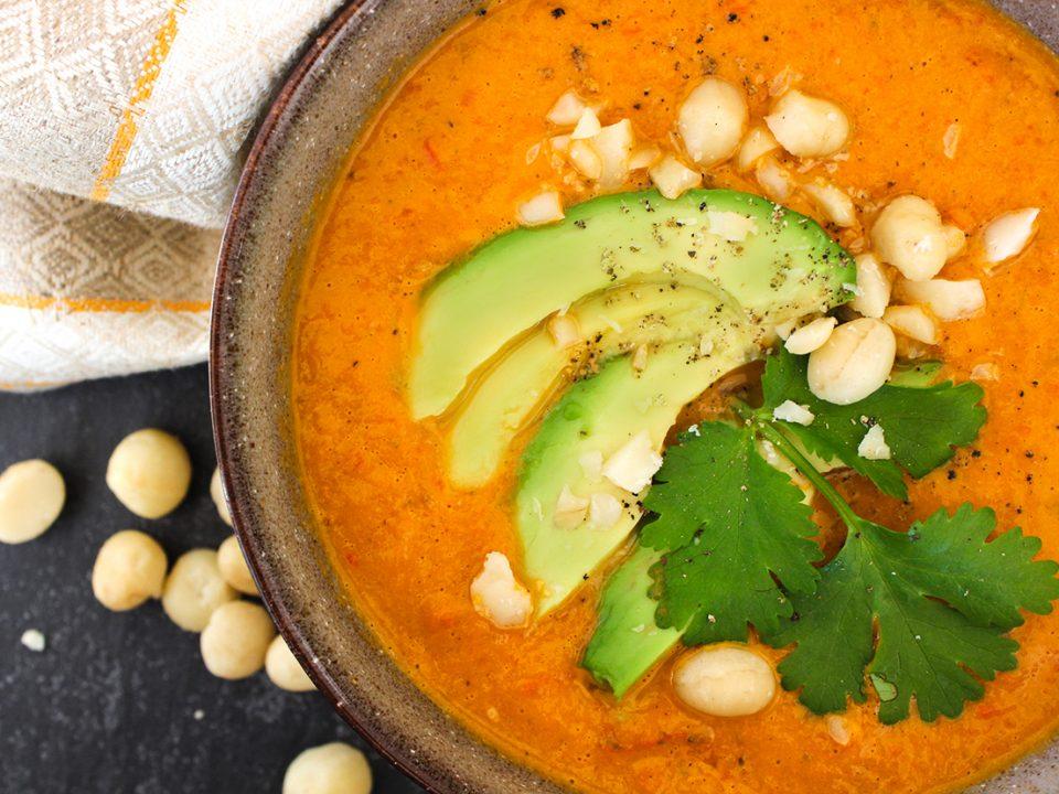NOAN Paleo Suppe mit Avocado und Paprika