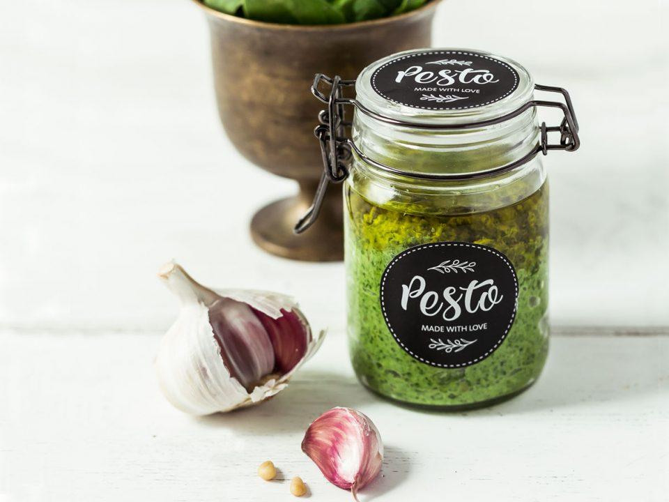 Spinat-Pesto mit frischem Blattspinat