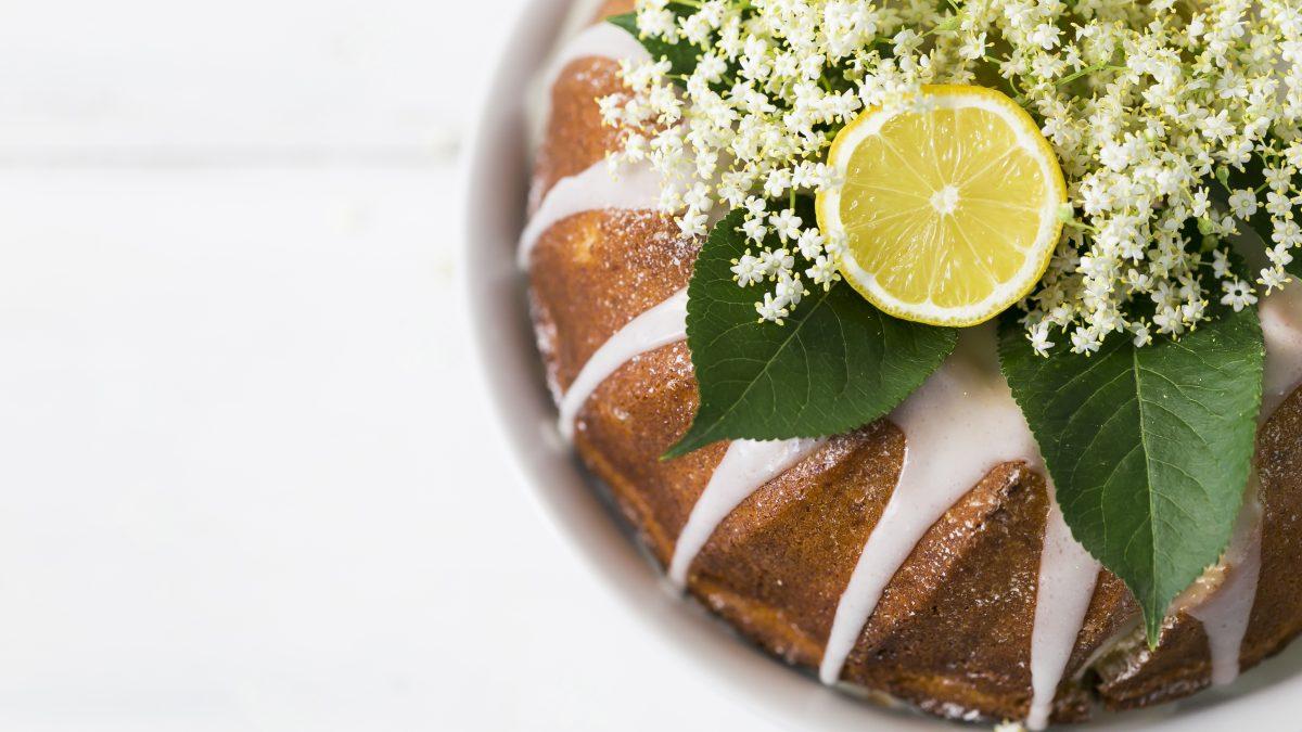 Holunder-Zitronenkuchen