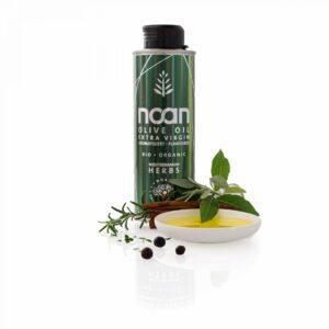 NOAN Mediterranean Herbs mit Öl-Schälchen und dekorativen Kräutern