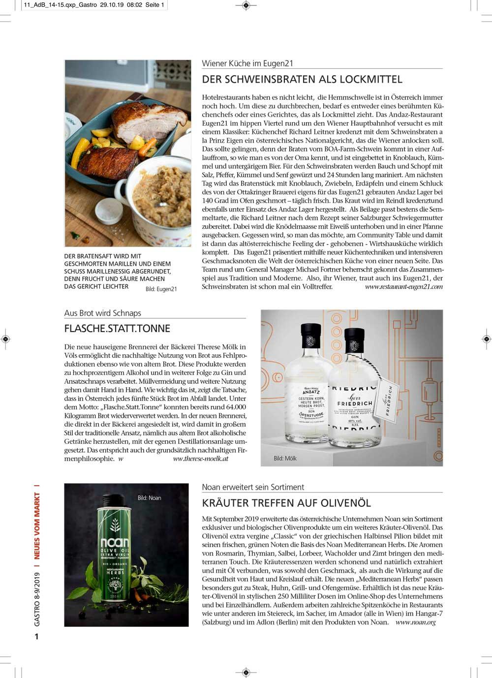 gastro Magazin Print Beitrag Noan Herbs