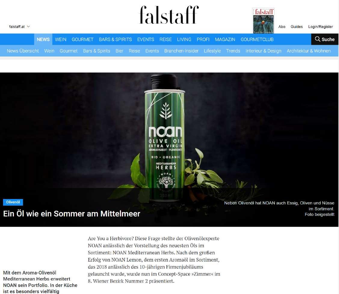 Falstaff Onlinemagazin Beitrag