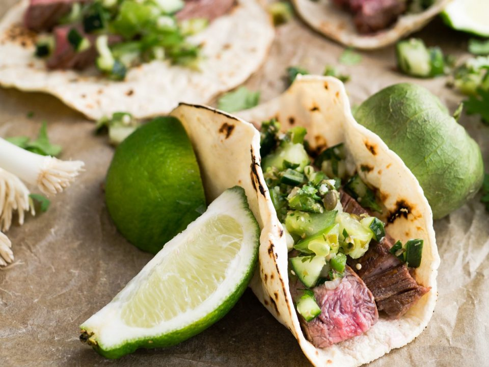 Tacos mit Rinderfiletstreifen