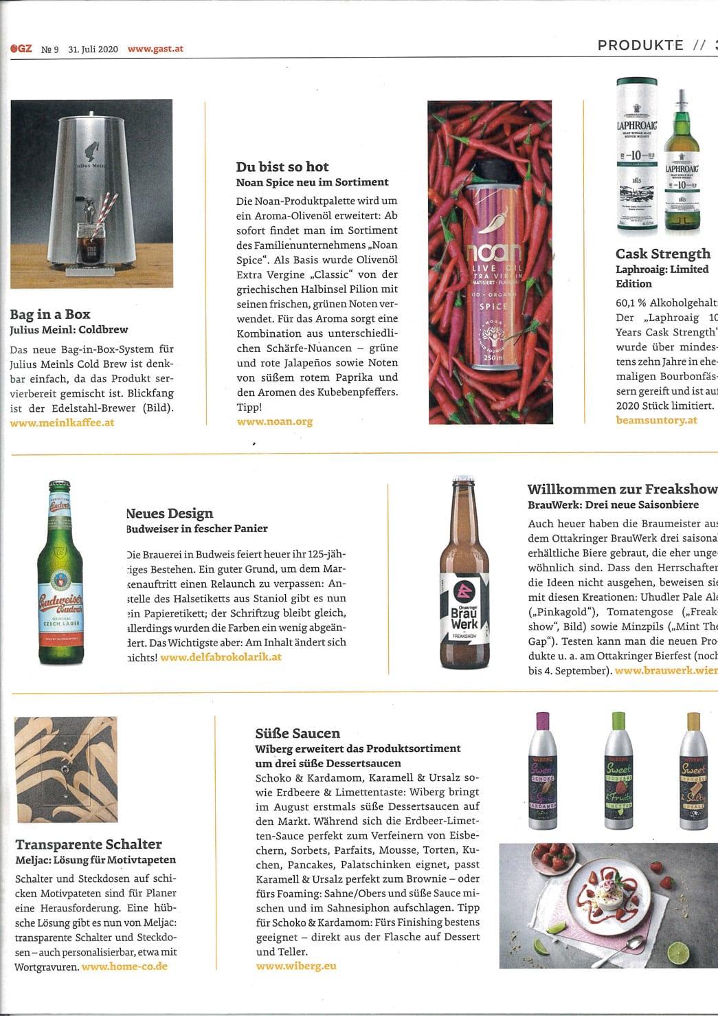 Beitrag in der Österreichischen Gastronomie und Hotelzeitung