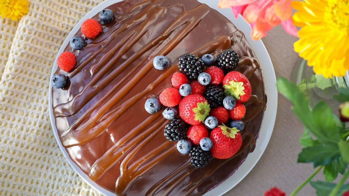 Schoko-Olivenöl Torte
